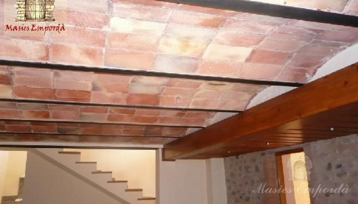 Detalle de techos con bovedilla