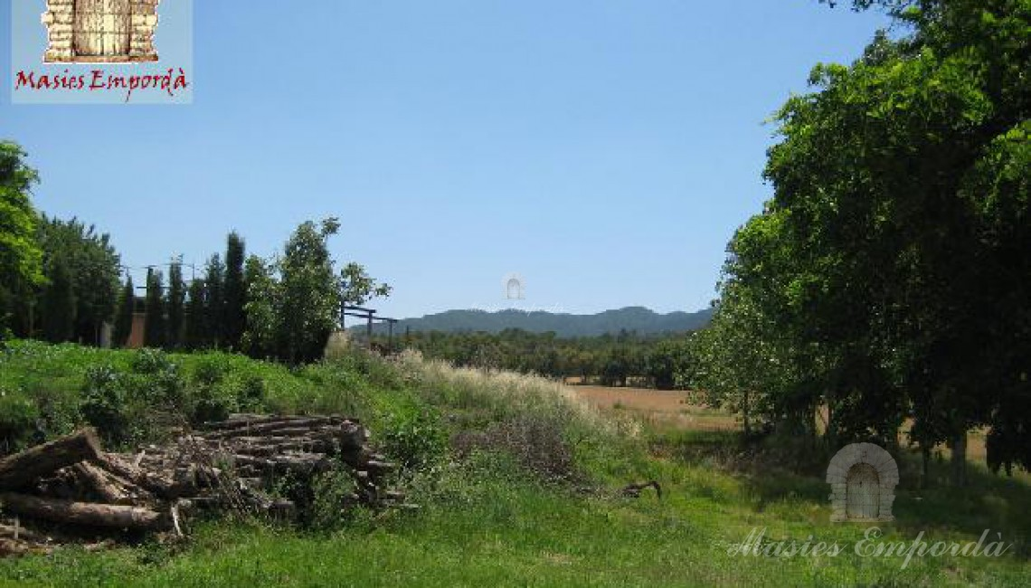 Vista desde los campo y bosque desde la masía