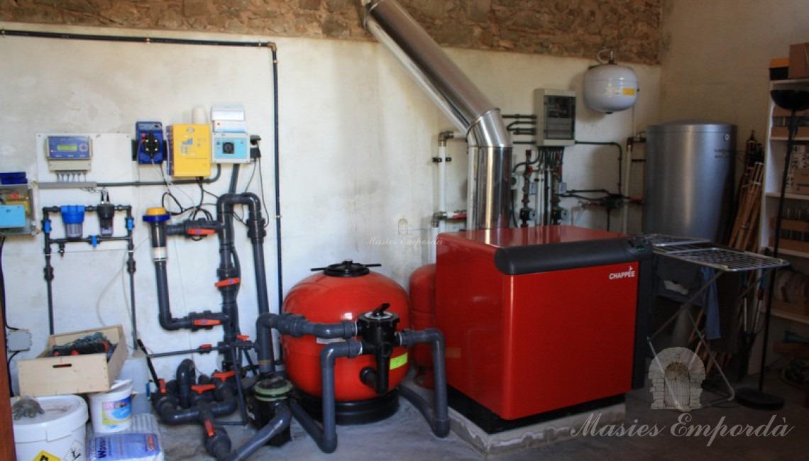 Sala de maquinas y calderas de la casa