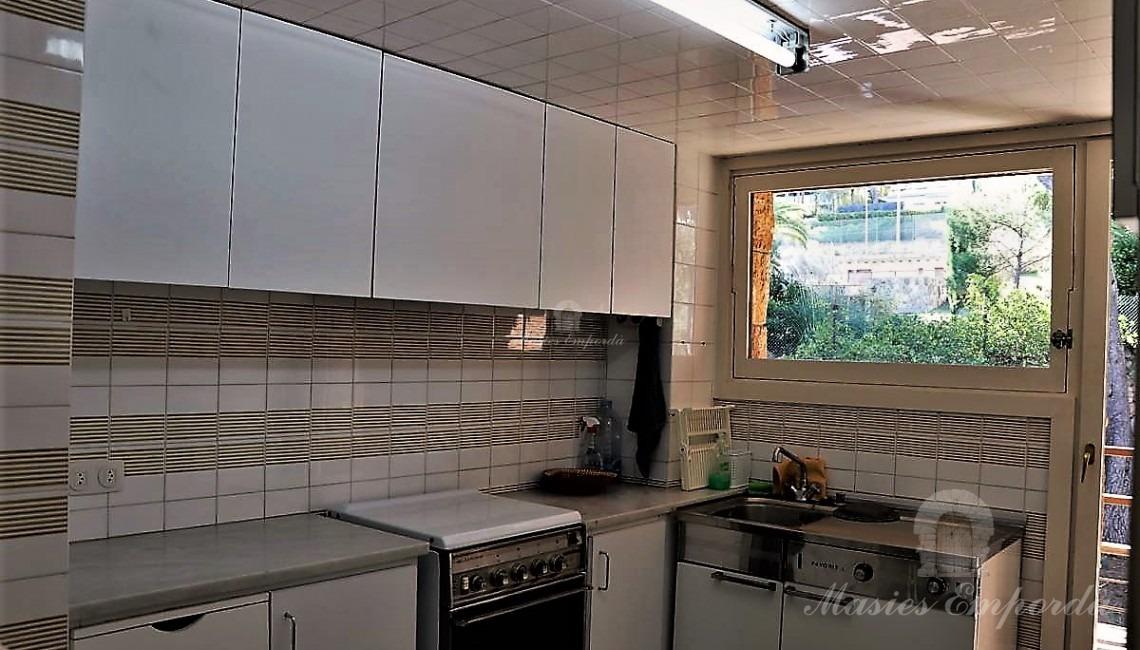 Cocina y terraza posterior