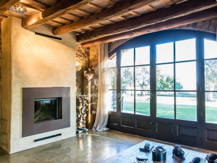 Salón de estar principal con chimenea