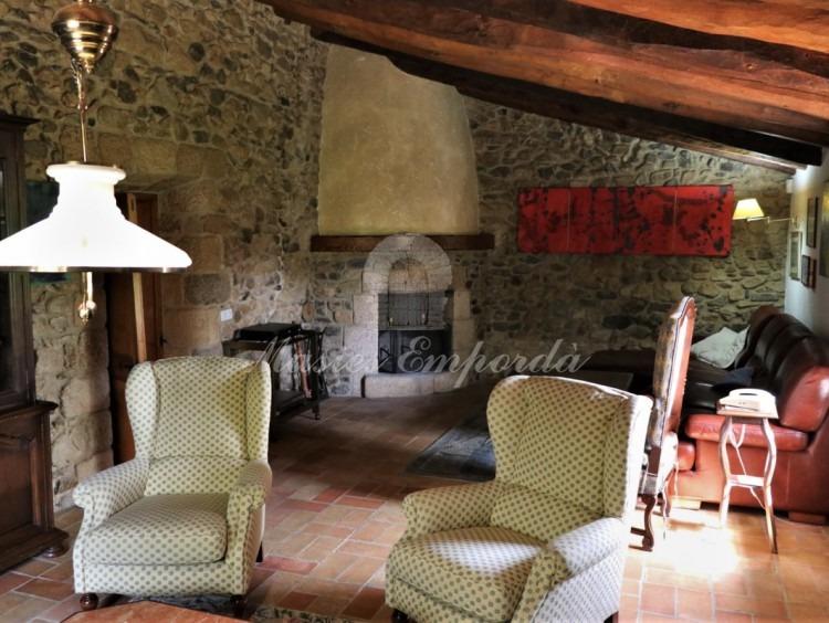 Salón de estar con chimenea